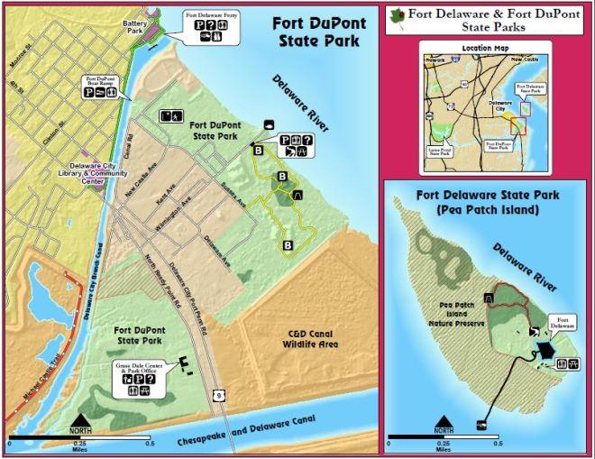 destateparks-map-fort-dupont-state-park