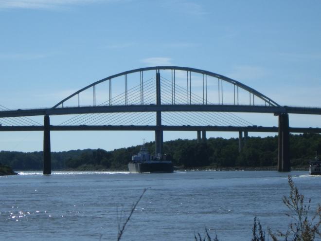 St. Georges Bridge, US13 in the foreground, and Senator William V. Roth, Jr. Bridge, DE-1 (by Cathy Schwarz)