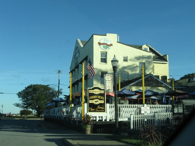 Crabby Dick's, at the Delaware City Hotel (by Cathy Schwarz)