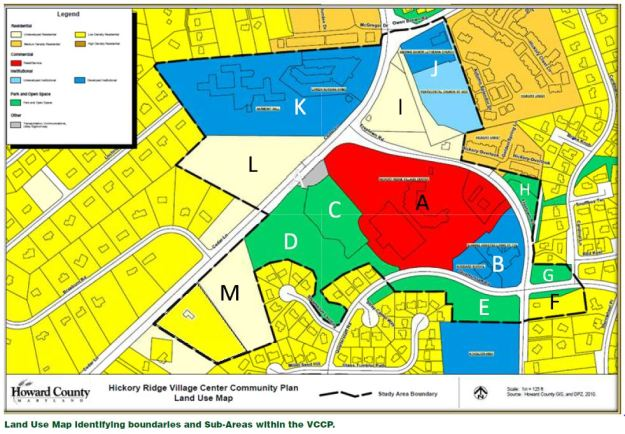 Village Center Land Use Map