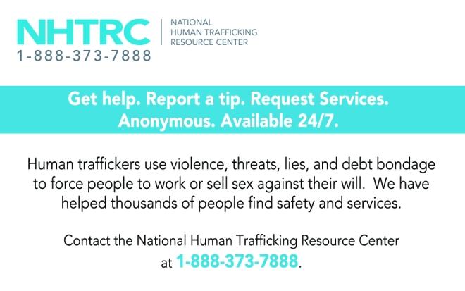 Human Trafficking Tip Card