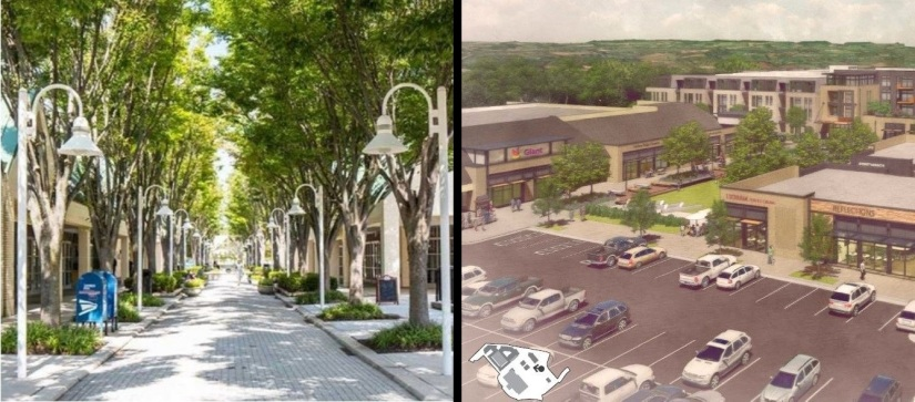Which version of the Hickory Ridge Village Center is likely tosurvive?
