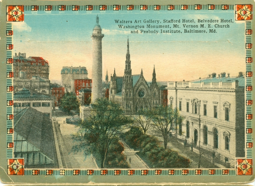 You know these Baltimore sites — in postcards from about 1912